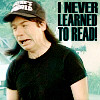 I never learned to read!
