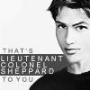 lt. col. sheppard b/w