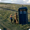 TARDIS on the wild moors.