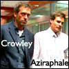 I have a mitten and a chicken puppet!: house - wilson - good omens - crowley -