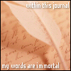 writing: within this journal