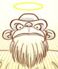 bearded monkey god