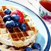 breakfast, waffle