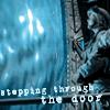 Carter stepping through the door