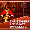 Marie: [kingdom hearts: diz] christopher lee
