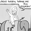 [OC] Jesus elephant