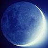 moon, blue, crescent