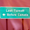 last turnoff before Canada