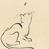 Japanese art - Cat and bug