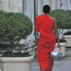 monk with stereo