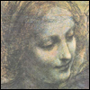 Art - Leonardo - The Virgin (detail)