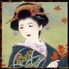 Japan - Autumn Leaves Geisha