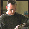 Giles - Looking at newspaper