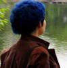 синяя вид сзади