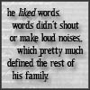 Always liked words