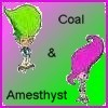 Coal & Amethyst