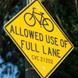 Gaz: Bikes allowed use of full lane