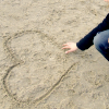 heart in sand by iiicon