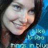 me in blue