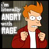 futurama literally angry with rage