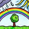 tree & rainbow