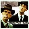 Sky: [j&w] concerned faces