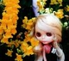 blythe with flowers