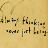 always thinking - art by Kurt Halsey