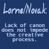 Lack of Canon Does Not Impede the Creative Process