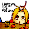 I hate you and the OTP you like!