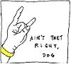 trowin' da horns dog