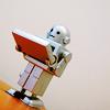 dinogrl: bookish robot