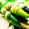 stock - green crayons