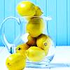 lemons- blue background