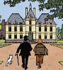 Tintin walking to Marlinspike