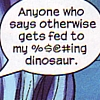 Shut up and smile: Comics // Runaways // Dino food