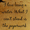 Love being a writer