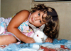 little me with rabbit