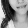 Lily Evans: b&w; bite lip; secret; minx
