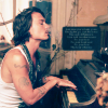 Johnny and piano
