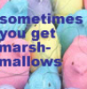 Sometimes You Get Marshmallows: marshmallows (robriki)