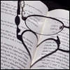 books glasses hearts