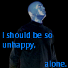 Blue Man alone