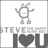 ljc: steve (the happy alien) hearts u