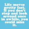 Life moves pretty fast