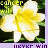 cancer flower affirmation