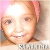 Samantha towel on her head