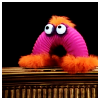 Pink muppet thingy