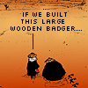 Mette: Wooden badger
