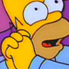 Why all the pearls?Why all the hair?Why anything?: Simpsons - Homer happy